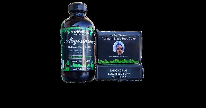 Abyssinian Platinum Black Seed Oil Soap + 8oz Bundle