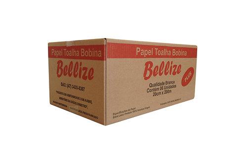 Papel Toalha Bobina Bellize 6x20x200