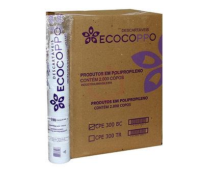 Copo Descartável Transparente 300ml Ecocoppo