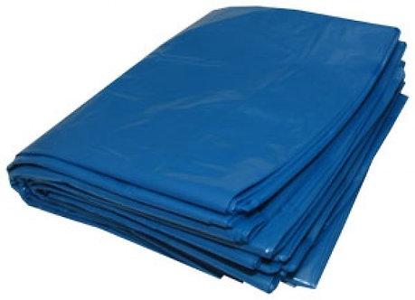 Saco para Lixo 100L 0,10 Azul/Amarelo