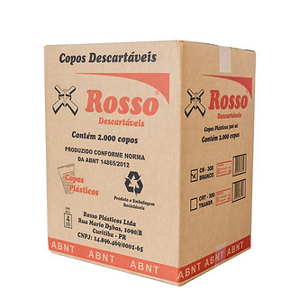 Copo Descartável Transparente 300ml Rosso