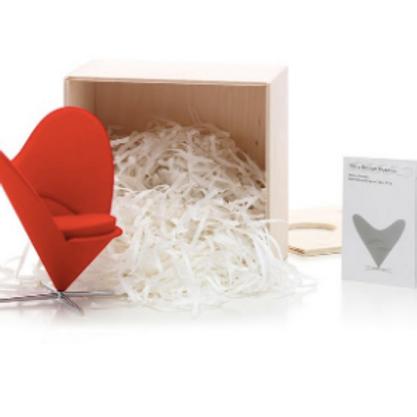 Panton Heart Shaped Cone Chair Miniature