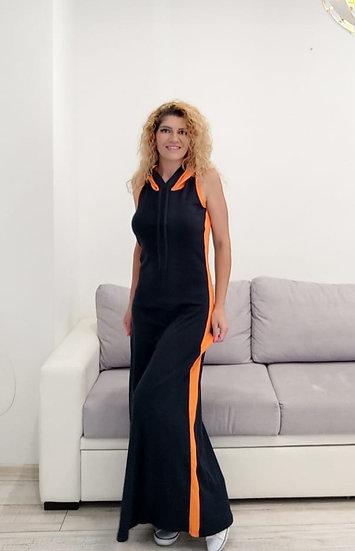 Дълга рокля с качулка