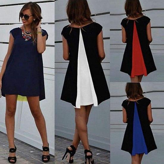 Къса рокля цветна плоха