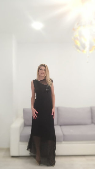 Дълга рокля с елементи