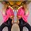 Thumbnail: Сет от цветен суичер и черен потур