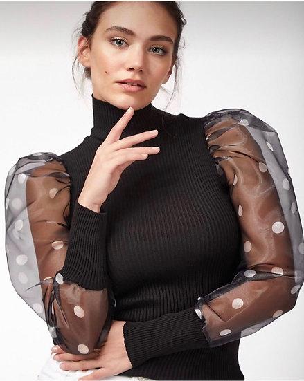 Блузка-поло. Плетиво