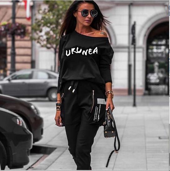 Комплект URUNEA, блузка и панталони карго