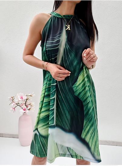 Къса рокля Leaves