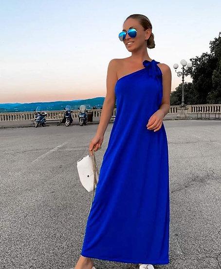 Дълга рокля с едно рамо