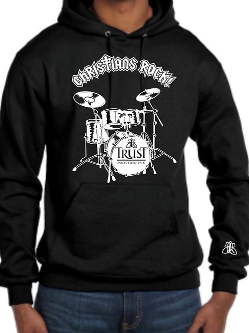 Christian's Rock Drummer Hoodie