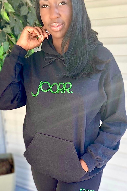 JCARR Glitter Hooded Sweatshirt