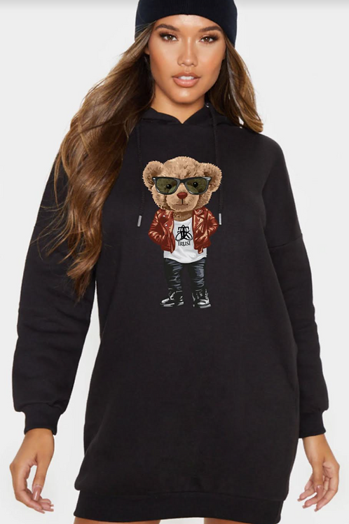 TRUST BEAR Hoodie Dress