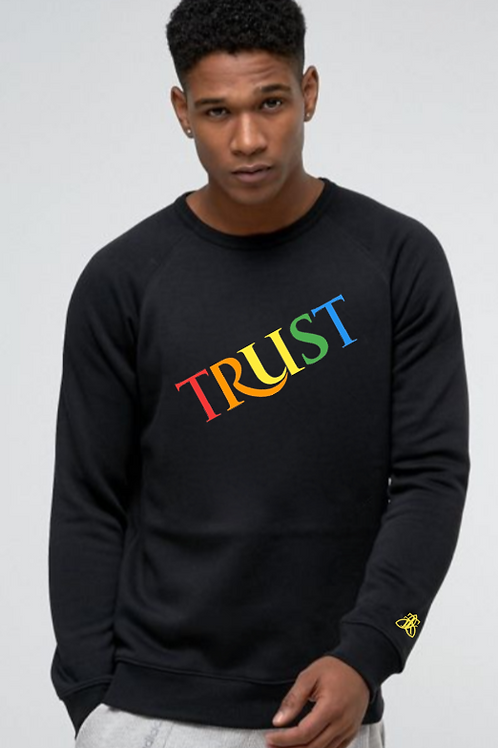 TRUST COLOR Crew Neck Sweatshirt (Unisex)