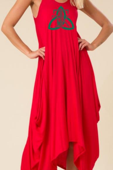 Sleeveless Sleeveless Round Neck Draped Harem Maxi Dress