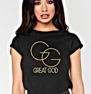 GREAT GOD Studded T-shirt