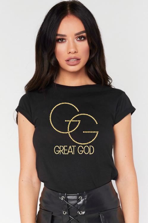 GREAT GOD Studded Tee (w)