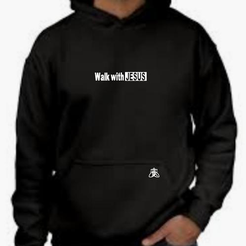 Walk with Jesus Mid weight Hoodie (unisex)
