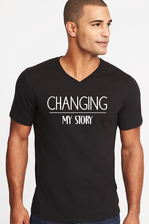 Changing My Story Men's V-neck T-shirt