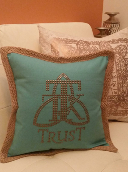 TRUST Studded Pillow Cover