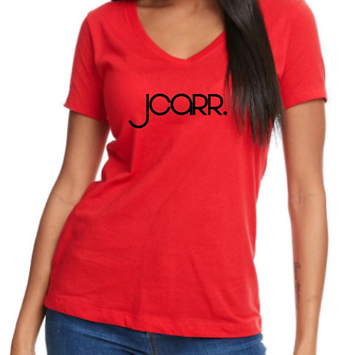 JCARR Ladies Fitted V-neck T-shirt