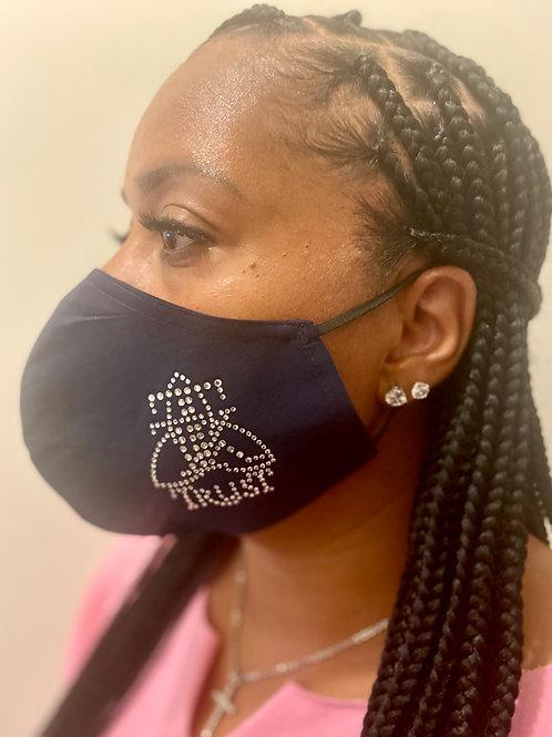 TRUST Rhinestone Mask (side logo)