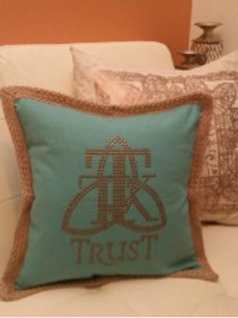 TRUST Studded Pillow Cover...... (item #131)