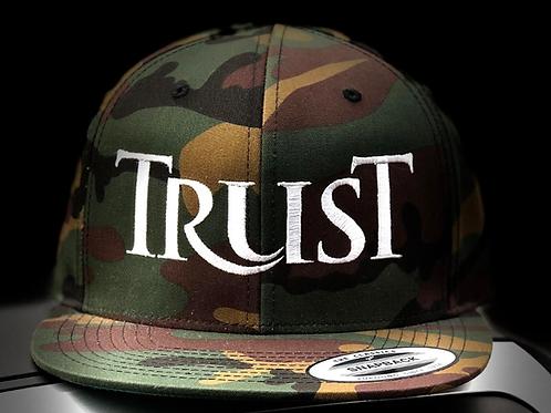 Camo TRUST snapback hat
