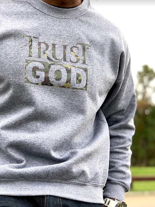 (Unisex) TRUST GOD Crew Neck Sweatshirt