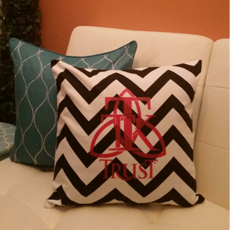 TRUST Zig Zag Pillow Cover