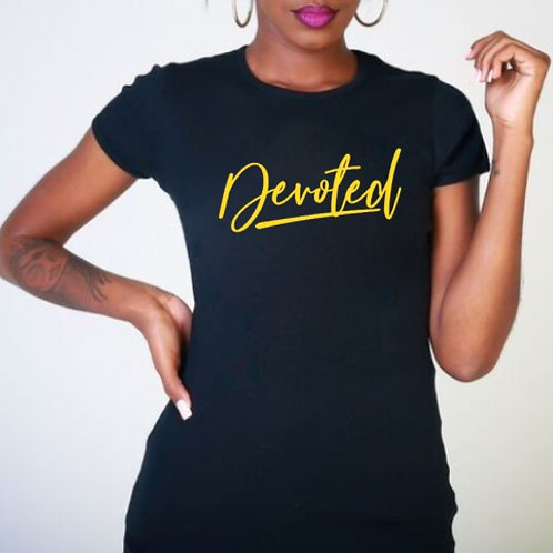 DEVOTED T-shirt (ladies fitted)