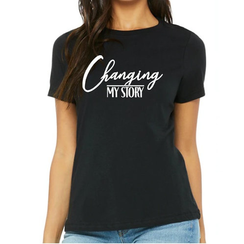 Changing My Story Woman's Fitted T-shirt