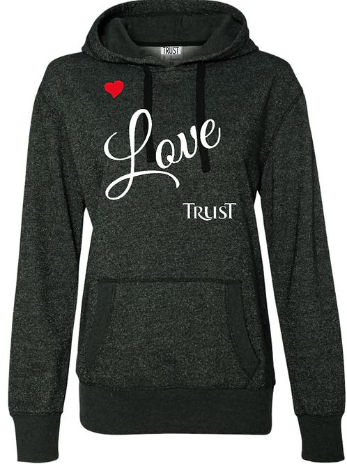 Love Trust Glitter Hoodie