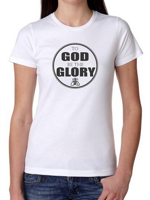 To GOD be the GLORY Ladies Tee