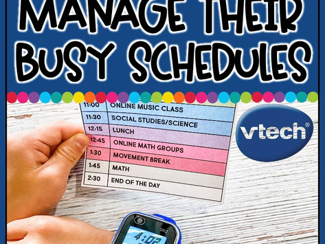 Tips for parents to help kids manage their busy schedules!