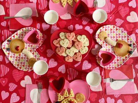 Dinosaur Themed Valentine's Day Breakfast