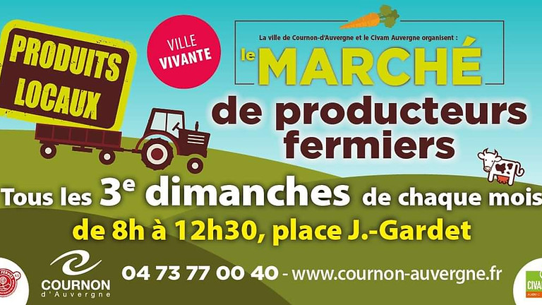 Marché de producteurs fermiers de Cournon d'Auvergne