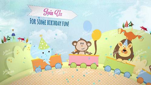 Jungle Theme Birthday Invitation