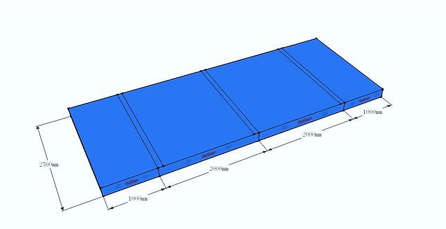 Colchoneta de aterrizaje para el aparato de salto aprobada por la categoría FIG