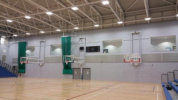 Canastas de baloncesto –de competición- pared fija, plegado hacia arriba