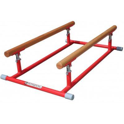 Barras paralelas suspendidas con rieles de madera