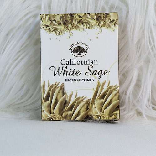 Green Tree, CA White Sage Incense Cones