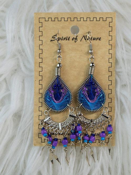 Purple/Blue Spirit of Nature Earrings