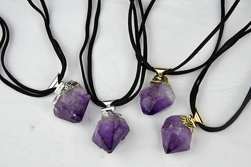 Amethyst Point Necklaces