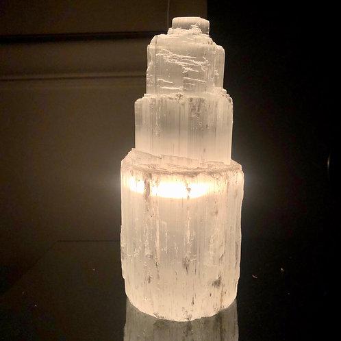 Pure Natural Selenite Lamp