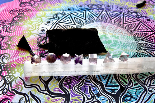 Amethyst 7 Shape Sacred Geometry Set