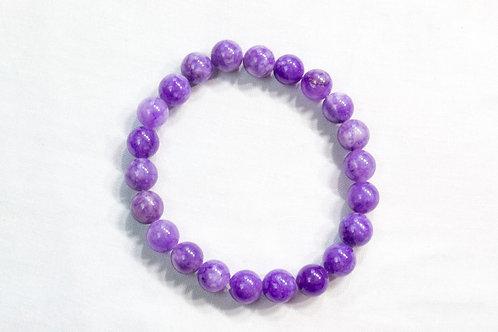 Purple Agate Elastic Bracelet