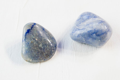 Blue Aventurine Tumbled Stone: Discipline, Inner-Strength, Psychic Connection