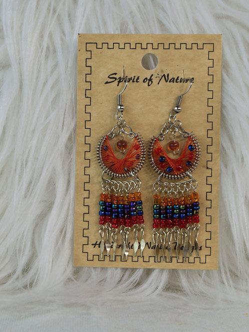 Spirit of Nature Earrings Orange/Red