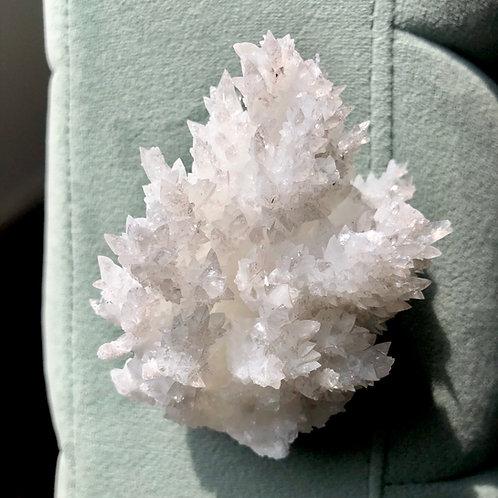 White Aragonite Cluster